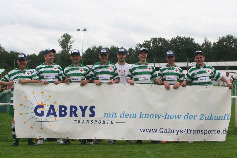 Gabrys Transporte ist Sponsor einer Benefiz Fußballveranstaltung
